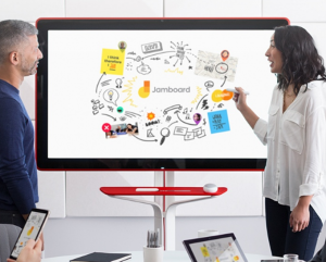 google, jamboard, interaction design, interactive tech, technology, workplace tech, business, brainstorming, workplace tool